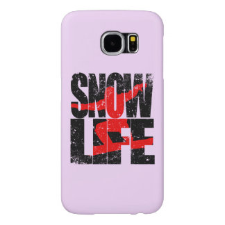 SNOW LIFE red boarder (blk) Samsung Galaxy S6 Cases