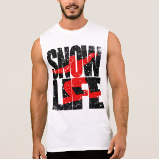 SNOW LIFE red boarder (blk) Sleeveless Shirt