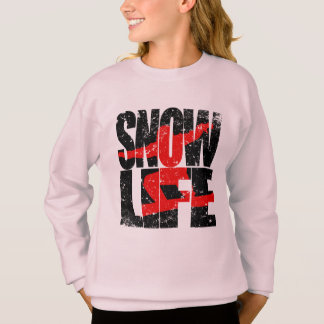 SNOW LIFE red boarder (blk) Sweatshirt