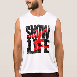 SNOW LIFE red boarder (blk) Tank Top