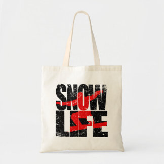 SNOW LIFE red boarder (blk) Tote Bag