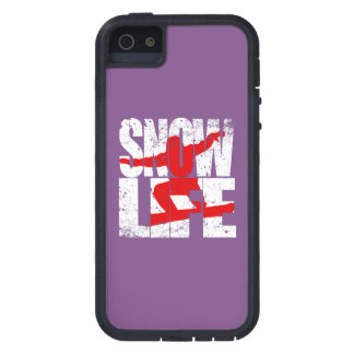 SNOW LIFE red boarder (wht) Case For The iPhone 5