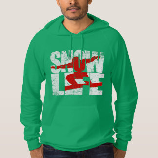 SNOW LIFE red boarder (wht) Hoodie