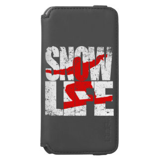 SNOW LIFE red boarder (wht) Incipio Watson™ iPhone 6 Wallet Case