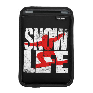 SNOW LIFE red boarder (wht) iPad Mini Sleeve