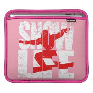 SNOW LIFE red boarder (wht) iPad Sleeve