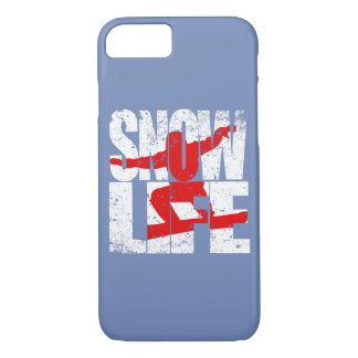 SNOW LIFE red boarder (wht) iPhone 8/7 Case