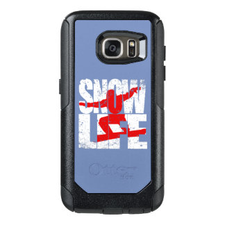SNOW LIFE red boarder (wht) OtterBox Samsung Galaxy S7 Case