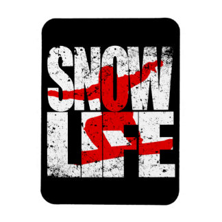 SNOW LIFE red boarder (wht) Rectangular Photo Magnet