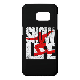 SNOW LIFE red boarder (wht) Samsung Galaxy S7 Case
