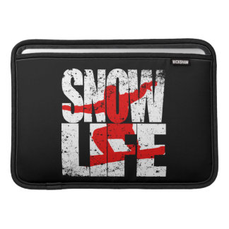 SNOW LIFE red boarder (wht) Sleeve For MacBook Air
