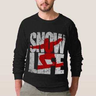 SNOW LIFE red boarder (wht) Sweatshirt