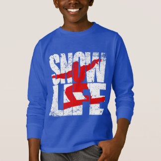 SNOW LIFE red boarder (wht) T-Shirt