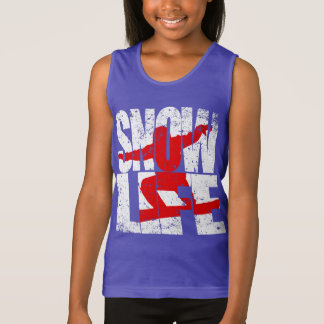SNOW LIFE red boarder (wht) Tank Top