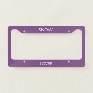 snow lover license plate frame