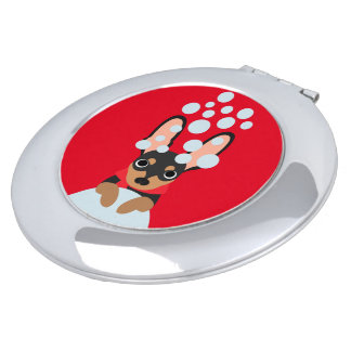 Snow Loving Miniature Pinscher Compact Mirror
