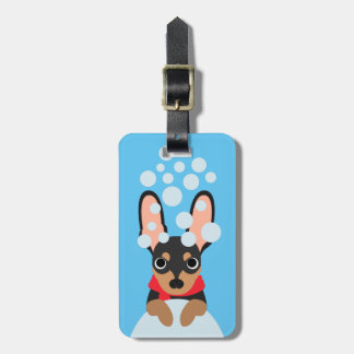 Snow Loving Miniature Pinscher Luggage Tag