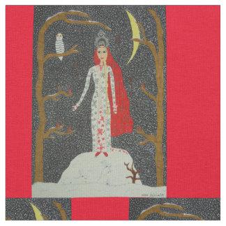 Snow Maiden (Red Version) Fabric