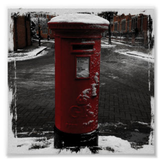 Snow Mailbox Poster