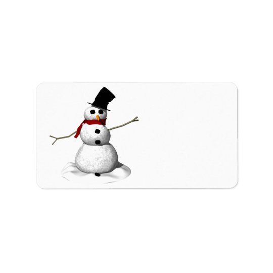 Snow Man Label