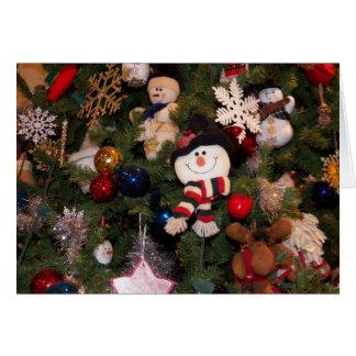 Snow Man Ornament Greeting Card