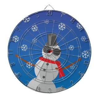 Snow Man Snow Winter Christmas Dartboard
