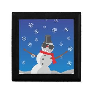 Snow Man Snow Winter Christmas Gift Box