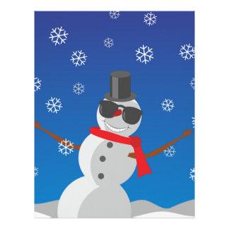 Snow Man Snow Winter Christmas Letterhead