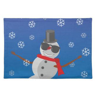 Snow Man Snow Winter Christmas Placemat