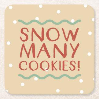 Snow Many Cookies Coasters