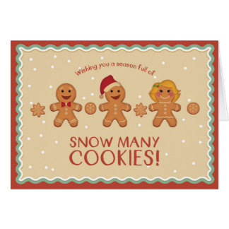 Snow Many Cookies Greeting card