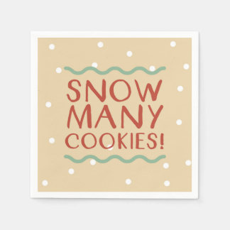 Snow Many Cookies Napkins Paper Napkins