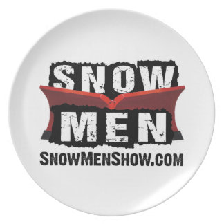 Snow Men Plate