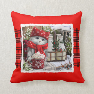 Snow milk throw pillow
