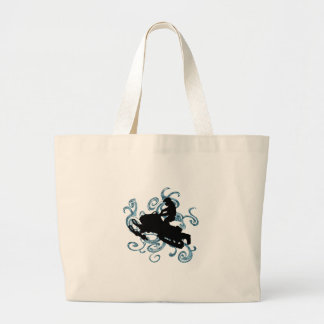 Snow mobile Mania Large Tote Bag