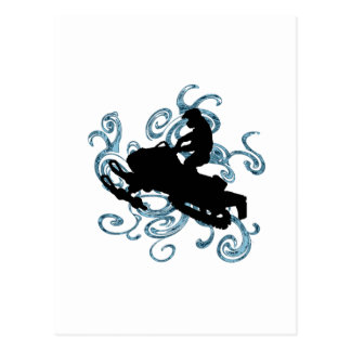 Snow mobile Mania Postcard