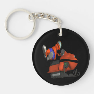 Snow Mobile Skills Double-Sided Round Acrylic Keychain