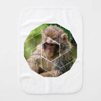 Snow Monkey Burp Cloth