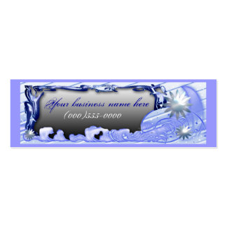 snow moon business card templates