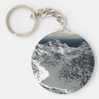Snow_Mountain_new_view_by_Xaritor19 Basic Round Button Keychain