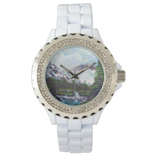 Snow mountains wristwatch