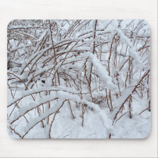 Snow on a Raspberry Patch --- Mouse Pad