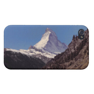 Snow on Matterhorn Blue Sky Alpine Forest iPhone 4 iPhone 4 Covers