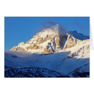 Snow on mountain, California Card