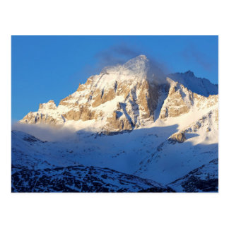 Snow on mountain, California Postcard