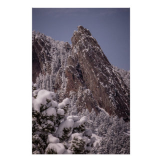 Snow on The Flatirons Poster