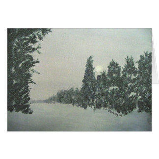 Snow on the Gunflint Trail Card