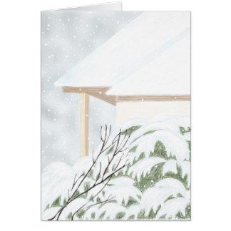 Snow On The Juniper Bush Card