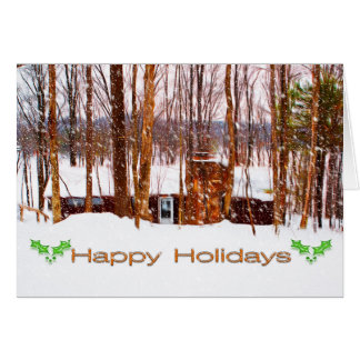 Snow on The lodge Card
