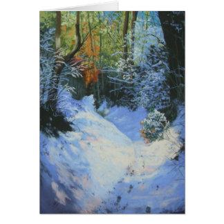 Snow On The Path To Mardon Card
